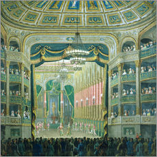 Wall sticker  View of the Parisian opera stage - French School