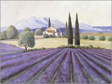 Wall sticker  Lavender Fields - Franz Heigl