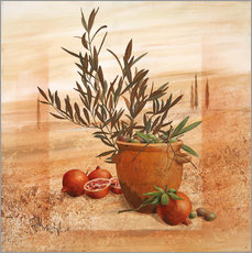 Wall Stickers  Pomegranate and olive harvest - Franz Heigl