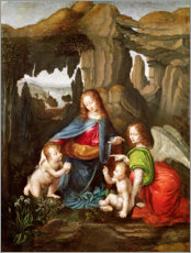 Canvas print  Madonna of the Rocks - Leonardo da Vinci