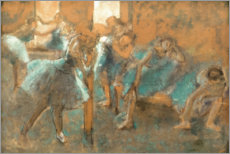 Gallery print  Dancers in rehearsal hall - Edgar Degas