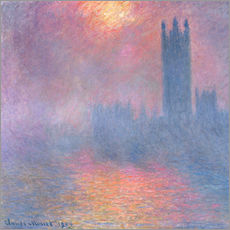 Wall sticker  The Houses of Parliament - Claude Monet