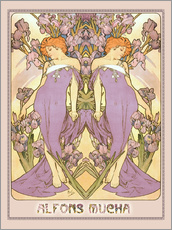 Wall sticker  Iris - Alfons Mucha