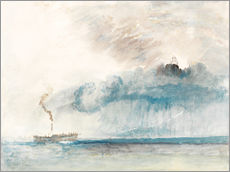 Wall sticker  Steamboat in a Storm - Joseph Mallord William Turner