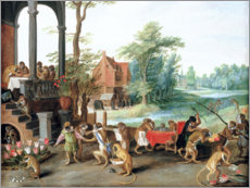 Gallery print  A Satire of the Folly of Tulip Mania - Jan Brueghel d.Ä.
