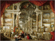 Gallery print  Gallery with pictures of Modern Rome - Giovanni Paolo Pannini