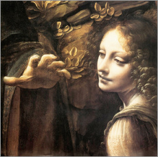 Gallery print  Madonna of the rocks (detail)  - Leonardo da Vinci