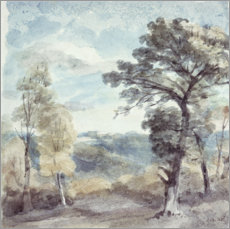 Wall sticker  Landscape with trees and a distant mansion - John Constable