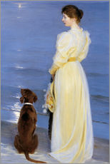 Wall sticker  Summer Evening at Skagen. The Artist's Wife and Dog by the Shore - Peder Severin Krøyer