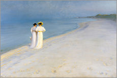 Gallery print  Summer Evening on the Skagen Southern Beach with Anna Ancher and Marie Kroyer - Peder Severin Krøyer
