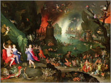 Wall Sticker  Orpheus with a Harp Playing to Pluto and Persephone in the Underworld - Jan Brueghel d.Ä.