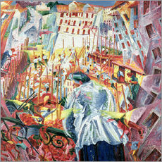 Gallery print  The Street Enters the House - Umberto Boccioni