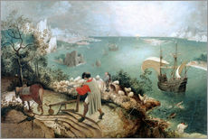 Wall sticker  Landscape with the fall of Icarus - Pieter Brueghel d.Ä.