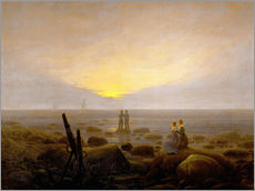 Gallery print  Moon Rising Over the Sea - Caspar David Friedrich