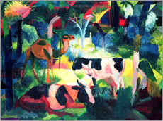 Wall sticker  Landscape with Cows and a Camel - August Macke