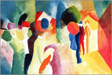 Gallery print  Woman with a Yellow Jacket - August Macke