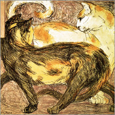 Gallery print  Two cats - Franz Marc