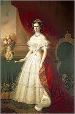 Wall sticker  Empress Elizabeth of Bavaria - Franz Russ