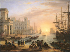 Wall sticker  Sea Port at Sunset - Claude Lorrain