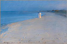 Wall sticker  Summer evening at the South Beach, Skagen. Anna Ancher and Marie Krøyer. - Peder Severin Krøyer