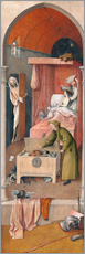 Gallery print  Death and the Miser - Hieronymus Bosch