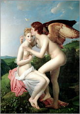 Wall sticker  Psyche Receiving the First Kiss of Cupid - François Pascal Simon Gerard