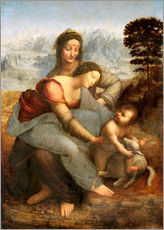 Gallery print  Virgin and child with St. Anne - Leonardo da Vinci