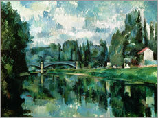 Wall sticker  The Banks of the Marne at Creteil - Paul Cézanne