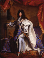 Wall sticker  Louis XIV in Royal Costume - Hyacinthe Rigaud