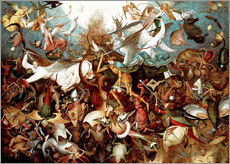 Wall sticker  The fall of the rebel angels - Pieter Brueghel d.Ä.