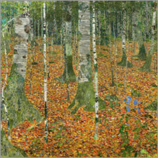 Acrylic print  The birch wood - Gustav Klimt
