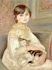 Wall sticker  Julie Manet with Cat - Pierre-Auguste Renoir