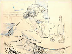 Gallery print  Suzanne Valadon sitting at table - Henri de Toulouse-Lautrec
