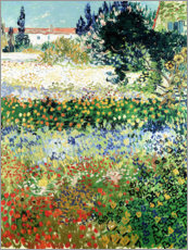 Wood print  Flowering Garden, Arles - Vincent van Gogh