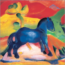 Premium poster Little blue horse