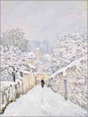 Wall sticker  Snow at Louveciennes - Alfred Sisley