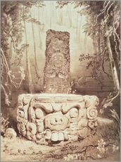 Wall sticker  Mayan temple - Frederick Catherwood