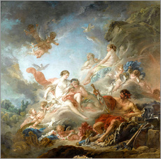 Gallery print  The Forge of Vulcan - François Boucher
