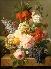 Wall sticker  Still Life with Flowers and Fruit - Jan Frans van Dael