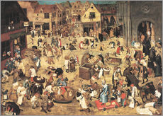 Gallery print  The Battle between Carnival and Lent - Pieter Brueghel d.J.