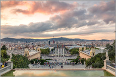 Gallery print  Barcelona in the evening - Matteo Colombo