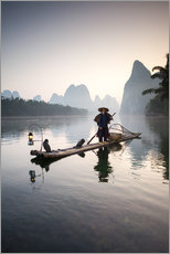Gallery print  Old Chinese fisherman - Matteo Colombo