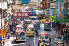 Gallery print  Crowded street in Mong Kok, Hong Kong - Matteo Colombo