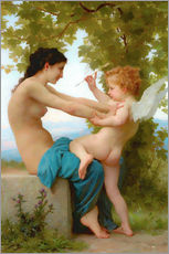 Gallery print  A young girl defending herself against Eros - William Adolphe Bouguereau