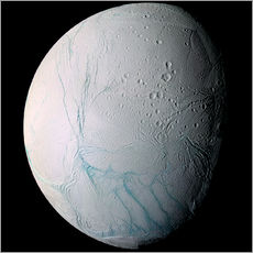Wall sticker  Saturn's moon Enceladus - Stocktrek Images