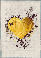 Gallery print  Golden Heart - Sybille Sterk