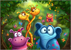 Wall sticker  Jungle animals - Tooshtoosh
