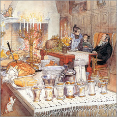Wall sticker  Christmas Eve, detail - Carl Larsson