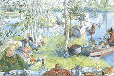 Gallery print  The Crayfish Season Opens - Carl Larsson