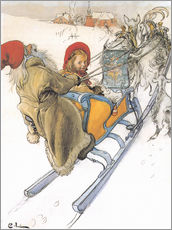 Wall sticker  Sleigh ride - Carl Larsson